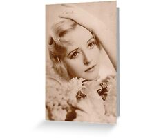 JWFrench Collection Vintage Range The Actress Greeting Card