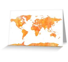 World map Mango Greeting Card