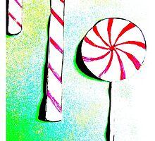 Christmas - Christmas baking, candy canes, lollipops - Weihnachtsbäckerei, Zuckerstangen, Lolipops by Marion Waschk