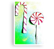 Christmas - Christmas baking, candy canes, lollipops - Weihnachtsbäckerei, Zuckerstangen, Lolipops Canvas Print