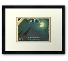 Cairo Safety Matches  Framed Print