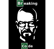 Breaking Code - Breaking Bad Parody Design for Programmers Photographic Print