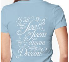 Dream within a Dream Womens Fitted T-Shirt