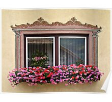 Windows of Lungau, Austria. Poster