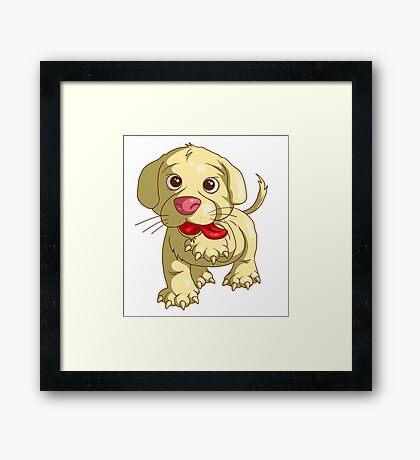 playful puppy Framed Print