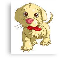 playful puppy Canvas Print