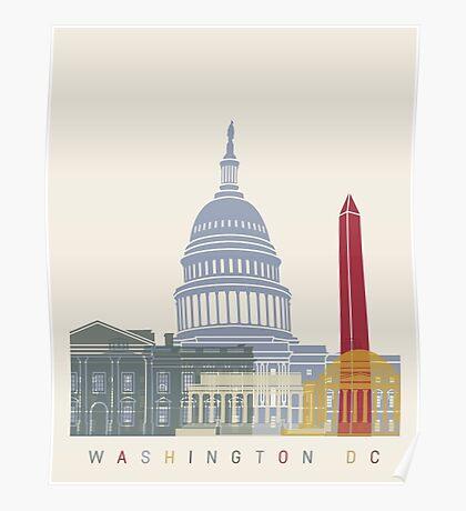 Washington DC skyline poster Poster
