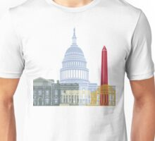 Washington DC skyline poster Unisex T-Shirt