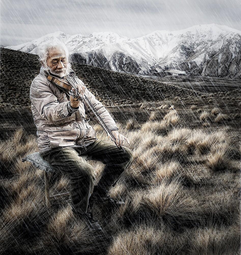 The Lone Violinist by Don Alexander Lumsden (Echo7)