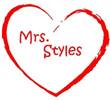 Mrs. Styles Heart Red Photographic Print