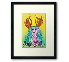 Love Sick Framed Print