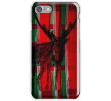 Christmas - Reindeer - plaid - Weihnachten - Rentier - kariert - rot grün iPhone Case/Skin