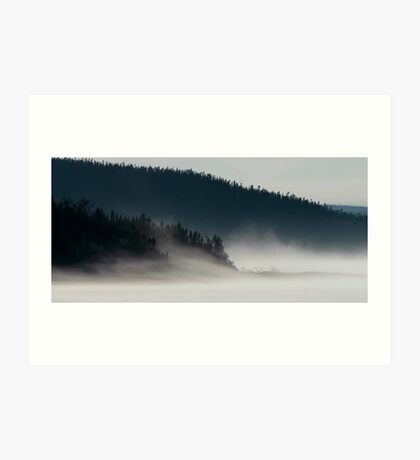 Fog on Lake Superior Art Print