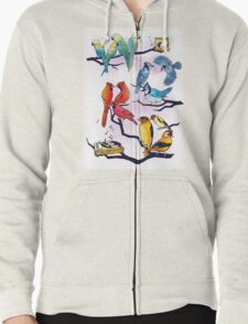 The Bird is the Word Zipped Hoodie