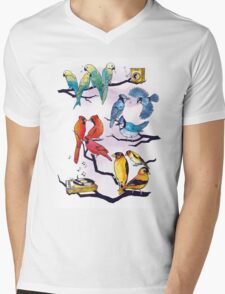 The Bird is the Word Mens V-Neck T-Shirt