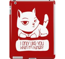 A Cat's confession - Funny Cartoon Cat design iPad Case/Skin