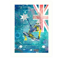 Australia yoga book Art Print