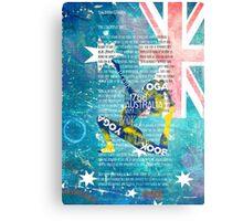 Australia yoga book Metal Print