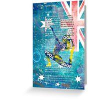 Australia yoga book Greeting Card