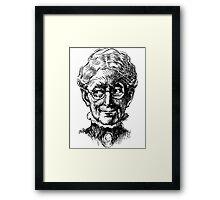 Wise Old Girl Framed Print