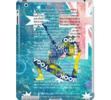Australia yoga book iPad Case/Skin