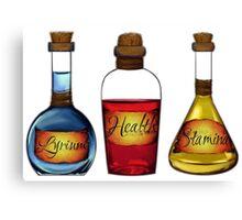 Lyrium Health Stamina Potions Canvas Print