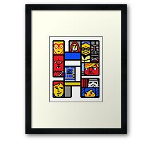 8-BIT WARS Framed Print