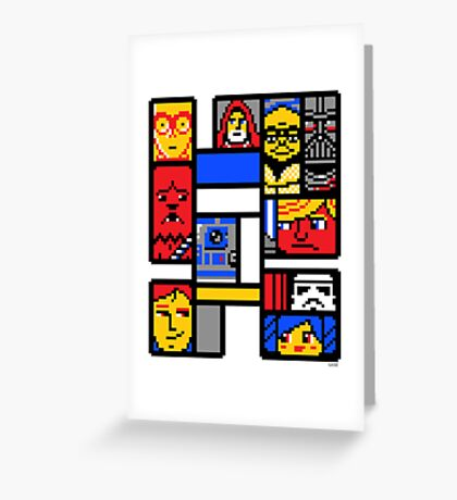 8-BIT WARS Greeting Card