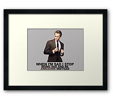 The Awesomeness that is Barney Stinson Framed Print