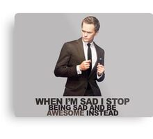 The Awesomeness that is Barney Stinson Metal Print