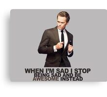 The Awesomeness that is Barney Stinson Canvas Print