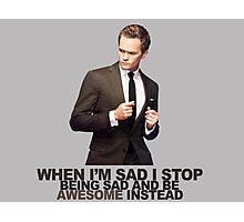 The Awesomeness that is Barney Stinson Photographic Print