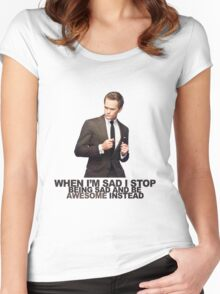 The Awesomeness that is Barney Stinson Women's Fitted Scoop T-Shirt