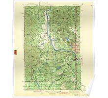 USGS Topo Map Washington State WA Newport 242812 1942 125000 Poster