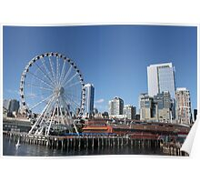 The Seattle Great Wheel...... Poster
