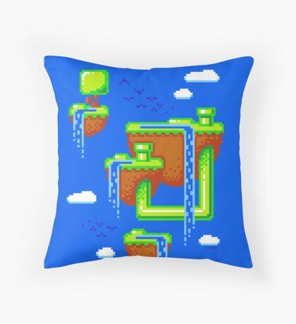 PIXEL ISLANDS Throw Pillow