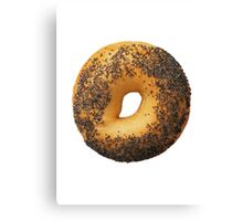 Poppyseed Bagel  Canvas Print