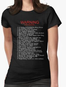 Warning: This person... Womens Fitted T-Shirt