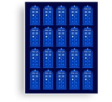 TARDIS PATTERN Canvas Print