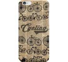 Retro Bicycles Vintage Illustration Dictionary Art iPhone Case/Skin