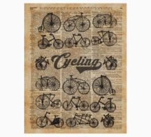 Retro Bicycles Vintage Illustration Dictionary Art Kids Clothes
