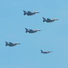 F-16 Fighting Falcons July 4th Flyover by Dawne Dunton