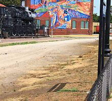Steam Engine with a Mural in the Way by Adam Kuehl