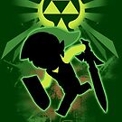 Super Smash Bros. Toon Link Silhouette by jewlecho
