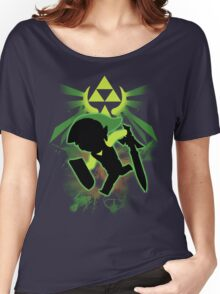 Super Smash Bros. Toon Link Silhouette Women's Relaxed Fit T-Shirt