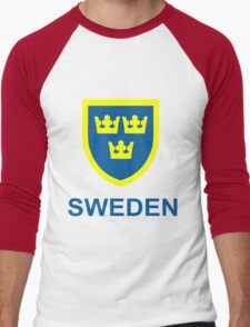 Country - Swedish Three Crowns Men's Baseball ¾ T-Shirt