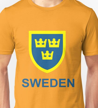 Country - Swedish Three Crowns Unisex T-Shirt