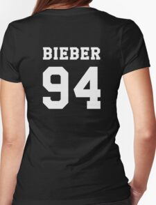 BIEBER 94 white Womens Fitted T-Shirt