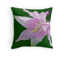 Pinkish Columbine Throw Pillow