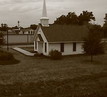 Church From the Tracks by Adam Kuehl
